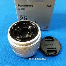 PANASONIC LUMIX G 25mm  F1.7 Lens H-H025 -Color:Silver- For Micro Four Thirds