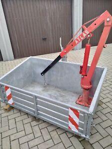 Heckcontainer mit Ladekran Traktor Deutz Diesel heckbox kippbar wie neu