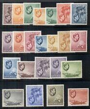 SEYCHELLES #125/148 Complete set except for #142, all og, LH, VF, Scott $315.40