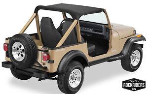 Bikini Top Bimini Top in Black Crush 1976-1986 Jeep CJ7 90701