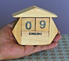 6 Perpetual Calendars Handmade in pinewood for office desks,Calendario Perpetual