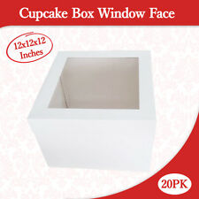 Cupcake Box Window Face 12x12x12 Inches High 20PK  Wedding Cake Box Cake Boxes