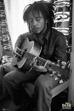 Bob Marley Playing Guitar Music Poster Print 24x36