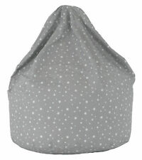 Large Grey Stars Bean Bag With Beans by Bean Lazy