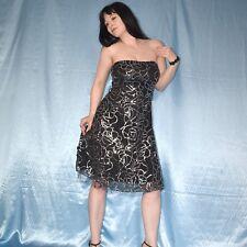 silber Pailletten am PARTYKLEID* S Cocktailkleid stretchig* Minikleid Abendkleid