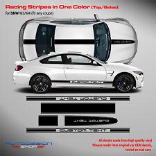 BMW M3 / M4 One Color Racing Stripes ( top & sides ) PLUSONECREW