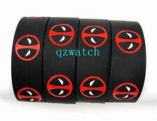 50 Pcs Deadpool Wristband Silicone Bracelets Party gift Wholesale