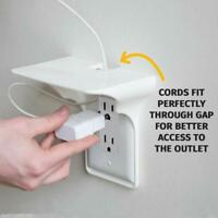 Outlet Shelf Solid White Plastic Mount Phone Tablet Charge Device Storage Boxes
