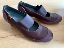 CAMPER Women's MARTA Plum Leather Mary Jane Shoes Heels - EU 39 / US 8.5