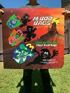 MCDONALD'S HALLOWEEN MCBOO BAGS HAPPY MEAL TRANSLITE SIGN 1991 90s Pails Poster