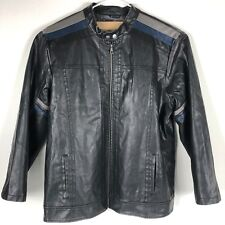 Arizona Cafe Racer Black Jacket Mens 2XLT Tall Faux Leather Lined Motorcycle