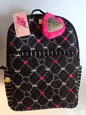 "NWT ""LUV BETSEY TEC"" Pink & Black Hearts Backpack! SO CUTE!"