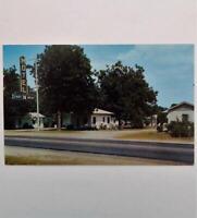 Vintage Postcard View Chat-N-Rest Motel & Restaurant Turbeville South Carolina