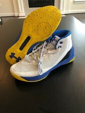 Under Armour Curry 3 Dub Nation Home Men's 1269279-102 White Blue Shoes Size 13