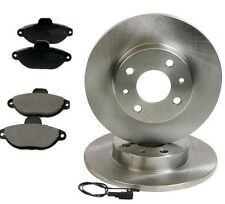 FIAT 500 500c Seicento Panda & Punto FRONT 2 x SOLID BRAKE DISCS & 4 x PADS