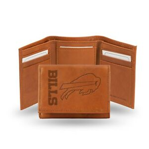 Buffalo Bills NFL Embossed Leather Trifold Wallet ~ New