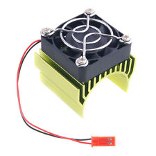 RC HSP 7020 Green Alum Heat Sink 5V Fan 40*40*10mm Cooling For 540 550 Motor