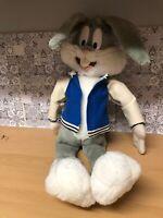 Play By Play Looney Tunes - Medium Seated Bugs Bunny Soft Plush Rare 1998