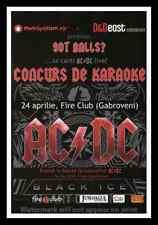 "Framed Vintage Style Rock 'n' Roll Poster ""AC/DC - GOT BALLS?""; 12x18"