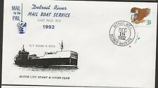 1992 Detroit Riverboat Mail Service, Last Mail Run