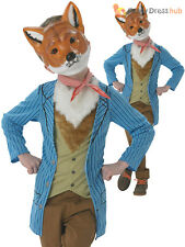 Boys Mr Fox Costume Childs Fantastic Fairytale Fancy Dress Kids Book Week Outfit