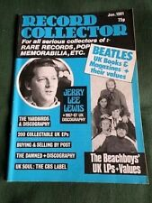 RECORD COLLECTOR  MAGAZINE- JAN 1981 -BEACHBOYS- JERRY LEE LEWIS- THE YARDBIRDS