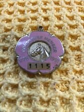 More details for doncaster member horseracing medal 1776-1991 pink enamelled