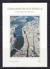 CATALUÑA EN SELLOS HB Nº 132 COSTUMBRES/TRADICIONES/ VISTA AÉREA GERONA