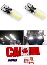 2pcs COB Glass 5W White 6000k LED T10 194 168 Map Dome License Plate Light Bulb