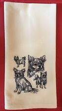 Chihuahua Long Coat, Kitchen Tea Towel, Embroidered, Custom, Personalized