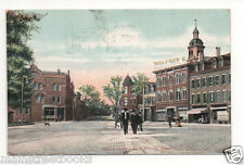 East Boston Ma 1907 Postcard Meridian St Walcott & Co Building w Men in Street