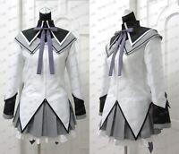 Puella Magi Madoka Magica Akemi Homura Cosplay Costume New Any Size