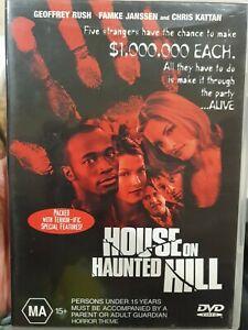 HOUSE ON HAUNTED HILL DVD GEOFFREY RUSH FAMKE JANSSEN TAYE DIGGS HORROR FILM