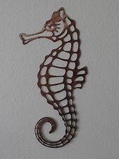 Seahorse Wall Metal Art with Rustic Copper Finish