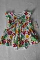 NEW Baby Girls Outfit Size 3 - 6 Months Multi-Colored Flowers Dress Bodysuit