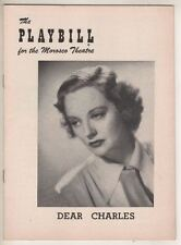 "Tallulah Bankhead   ""Dear Charles""   Playbill  1954  Broadway OPENING NIGHT"