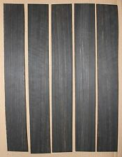 Gabon ebony guitar fingerboard blanks, mostly black with light color