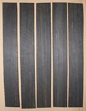 Gabon ebony guitar fingerboard blanks, mostly black with light color