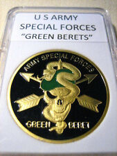 "U S ARMY Special Forces ""Green Berets""  Challenge Coin"