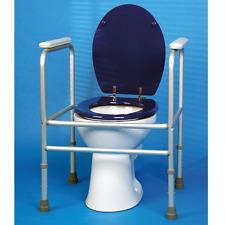 Toilettenstützgestell Toilettenrahmen aus Aluminium, zerlegbar, höhenverstellbar