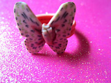 Plastic Butterfly Ring Size 8 and size 6 (choose your size)