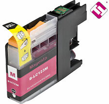 TINTA LC123M V2  MAGENTA COMPATIBLE MFC J470DW BROTHER CARTUCHO NO ORIGINAL NON