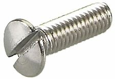 2BA x 1in Stainless Slotted Countersunk Screws