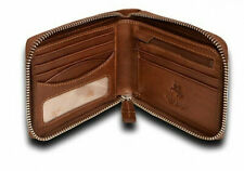 Visconti Darwin Zip Around Mens Brown Soft Leather Wallet DR-31 Extra Security