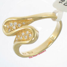 Beautiful 18k Yellow Solid Gold with Genuine Diamonds Cocktail Ring TPJ
