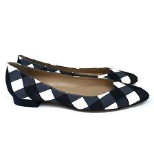 NEW Women's Talbots Checkered Flats Shoes Size 9.5AA Narrow Black White
