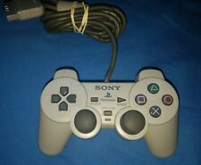 Official Sony PlayStation PS1 Dual Shock Analog Gray OEM Controller EUC