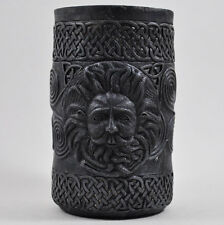 Black Pen Pot Gothic Celtic Decor Gift Idea Haloween Spook Magic Desk Tidy 34108