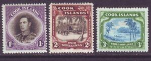 Cook Islands 1938 SC 112-114 MH Set