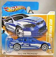 2012 Hot Wheels #4 HW Premiere 4/50 FORD FALCON RACE CAR Blue Variant Short Card